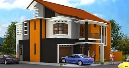 Kombinasi Warna Cat Tembok Orange yang Indah Cantik dan