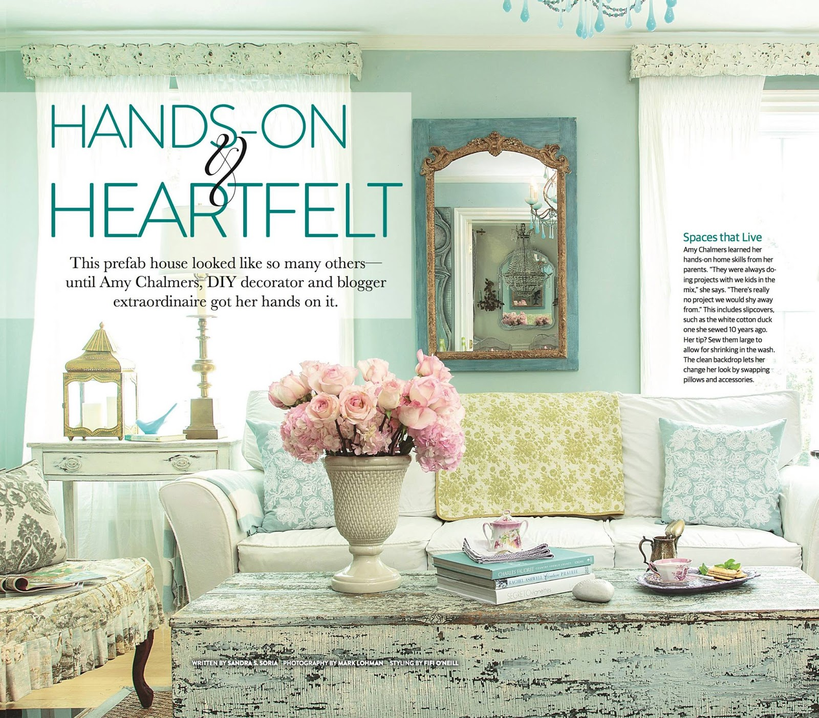 maison decor my home makes the cover of romantic country magazine