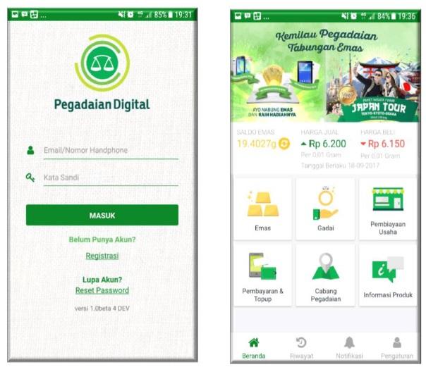 Pegadaian Digital Apps untuk Nabung Emas