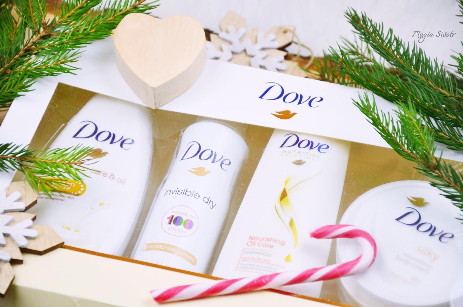 świąteczny zestaw kosmetyczny, dove, zestaw upominkowy dla niej, pomysł na prezent dla dziewczyny