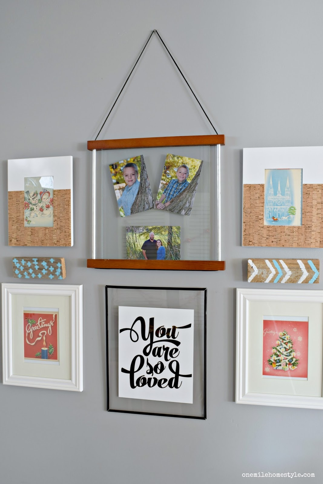 Farmhouse Entryway With Large Statement Art