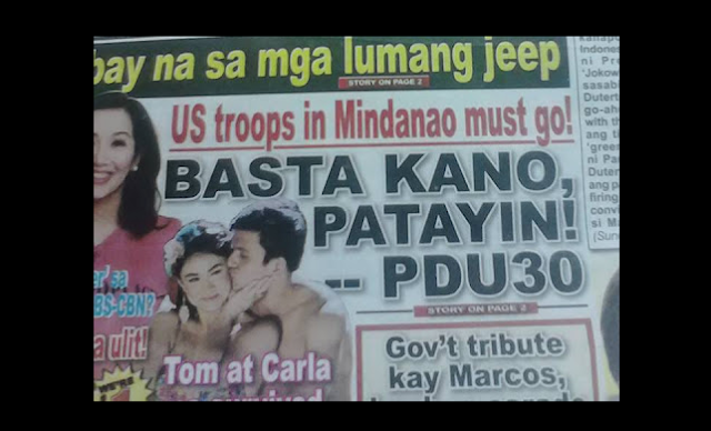 Abante allegedly publishes false headline claiming Duterte urges killing Americans
