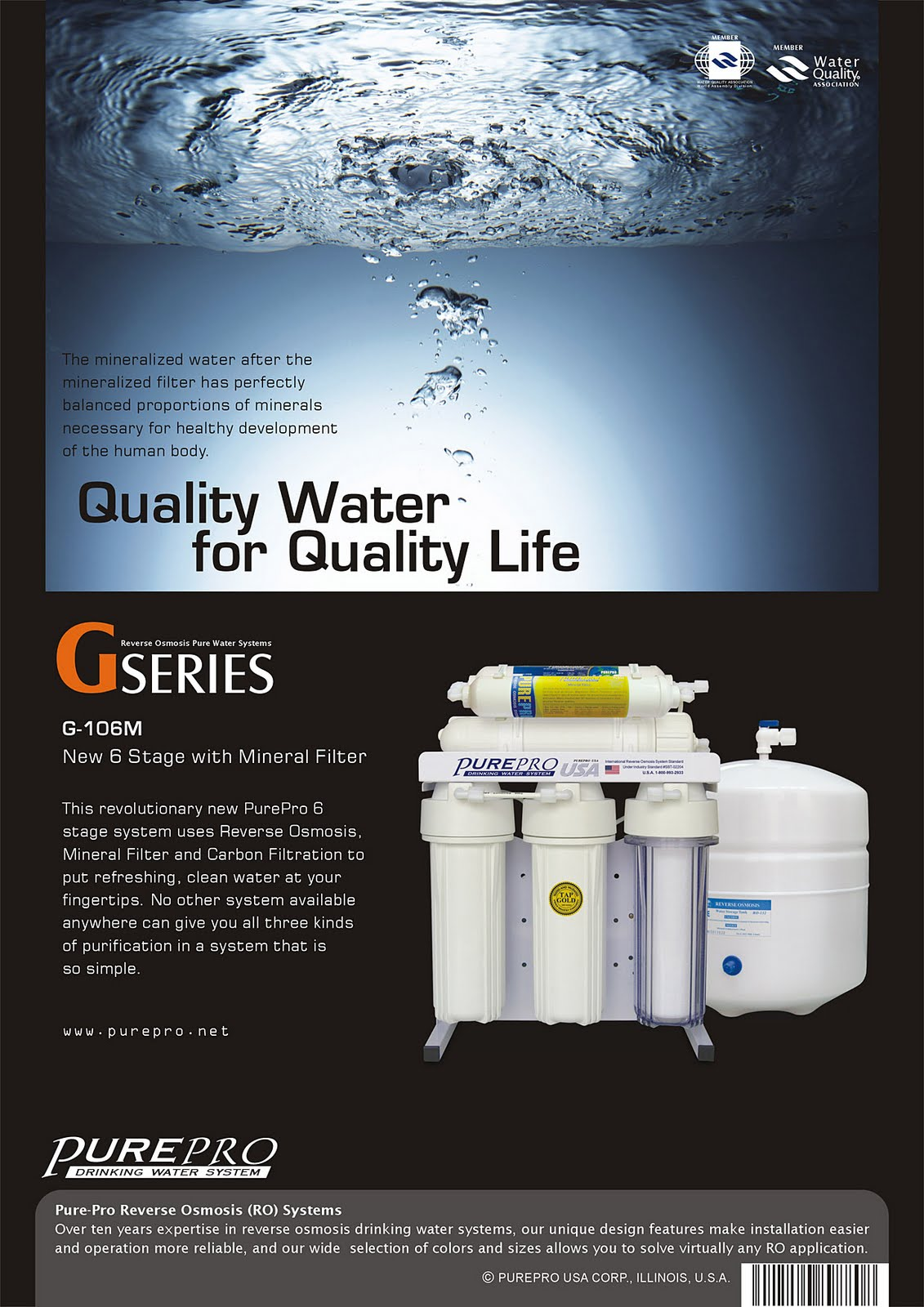 PurePro® G-106M Reverse Osmosis Water Filtration System