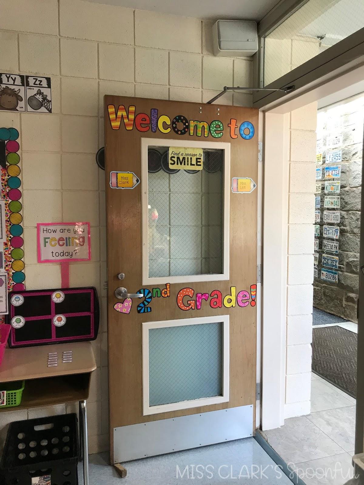 second grade classroom doorway