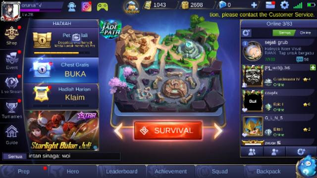 Inilah penjelasan singkat serta cara bermain mobile legend survival mode untuk Anda.