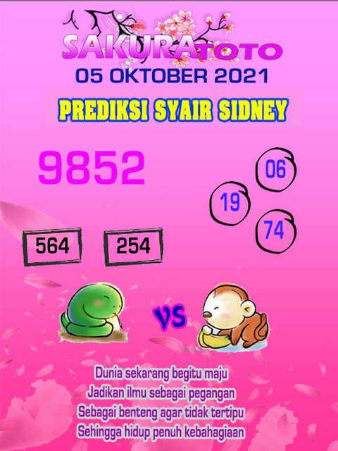 Syair sdy 06 Oktober 2021