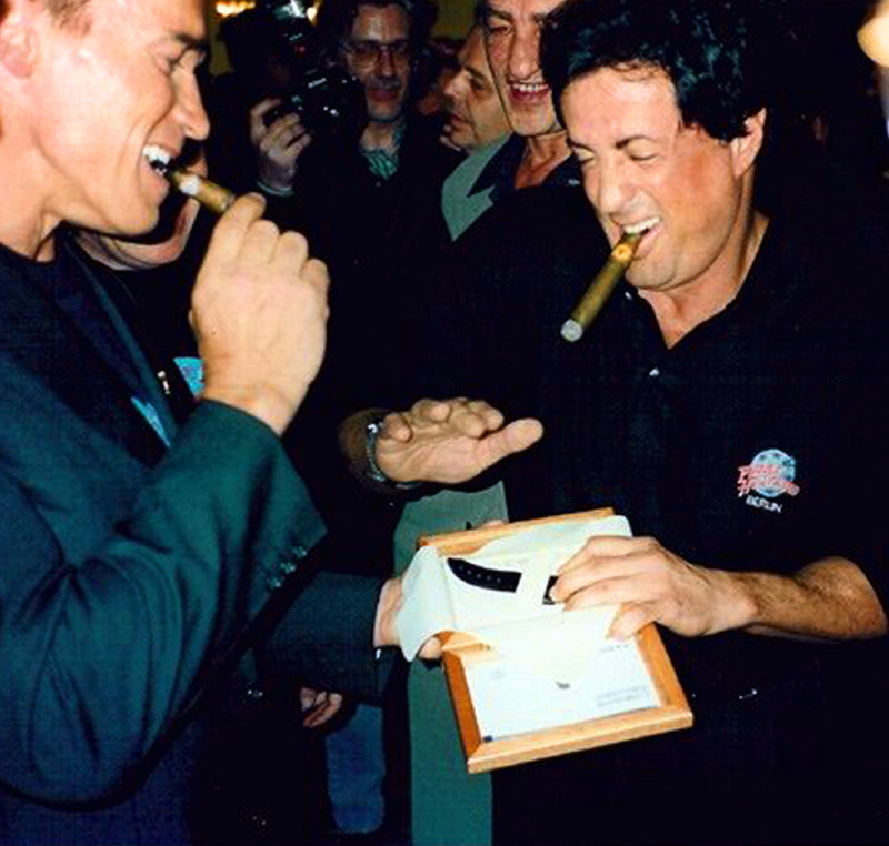 Welcome to PaneraiMagazine.com Home of Jake's Panerai World...: Stallone & Schwarzenegger A Story Of Friendship & Panerai
