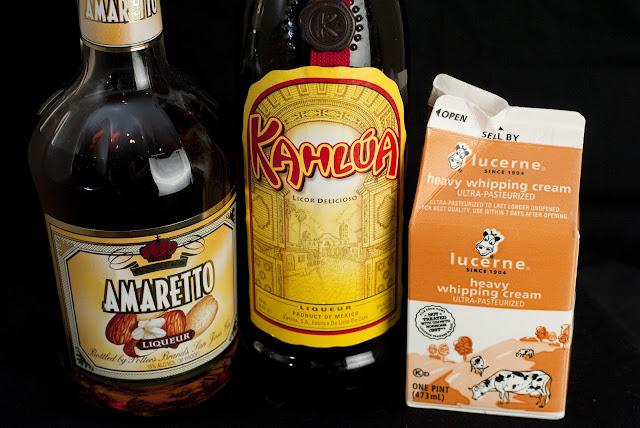 toasted almond, amaretto liqueur, kahlua, coffee liqueur, cream
