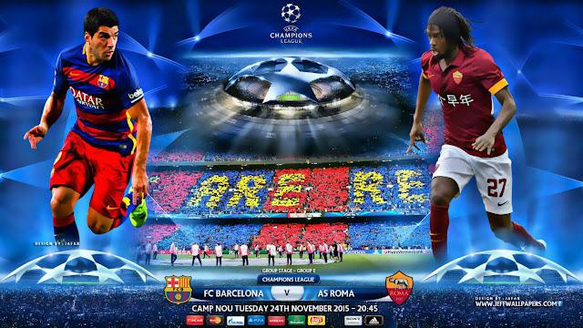 Barcelona - x Roma  Champions League 2015/16 - Data, Horário e TV