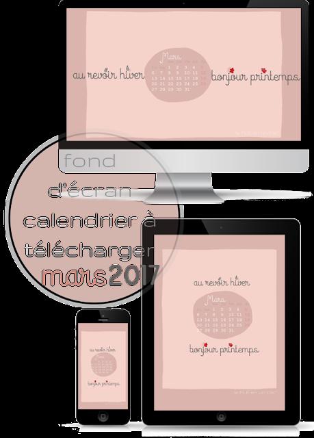 fond d'écran, calendrier mars 2017, FLE, le FLE en un 'clic'