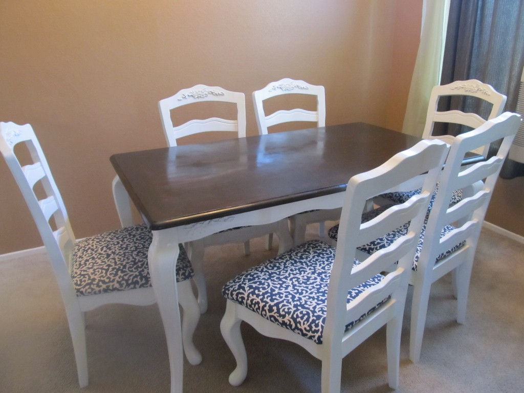 before and after diy dining table makeover redo kitchen table Before and After DIY Dining Table Makeover
