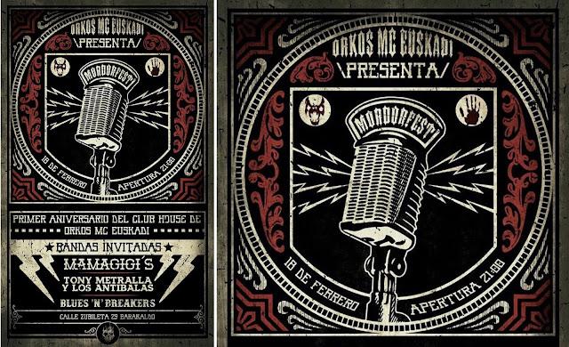 Cartel del festival en Orkos MC Euskadi en Zubileta
