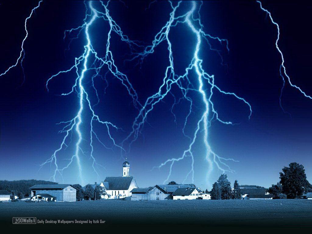 Letters to my grandparents beware of lightning strikes - Lighting strike wallpaper ...