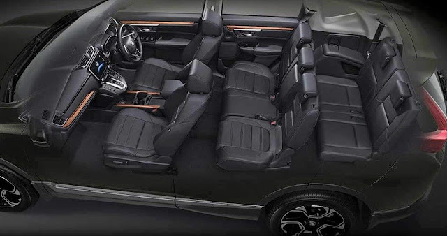 Honda CRV 7 Seaters interior