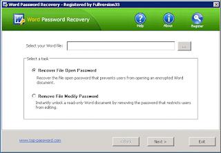 Top Password Word Password Recovery 1.90