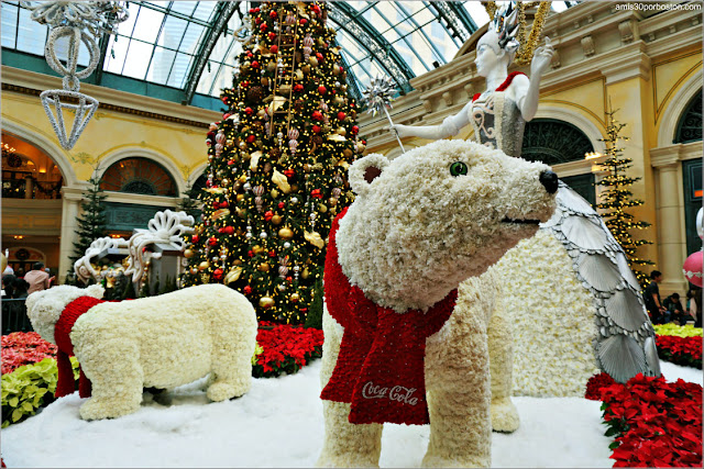 Holiday Glamour 2017 del Hotel Bellagio: Osos Polares y Princesa de Hielo
