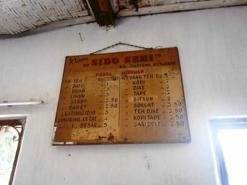 daftar menu bakso sidosemi kotagede