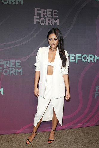Pretty Little Liars actress Shay Mitchell (Emily) at Freeform 2016 Upfront
