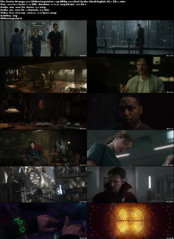 Screen Shots Doctor Strange (2016) Full HD Movie Download in Hindi Dubbed 720p