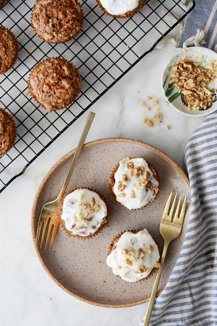 Vegan Mini Carrot Cake Muffins