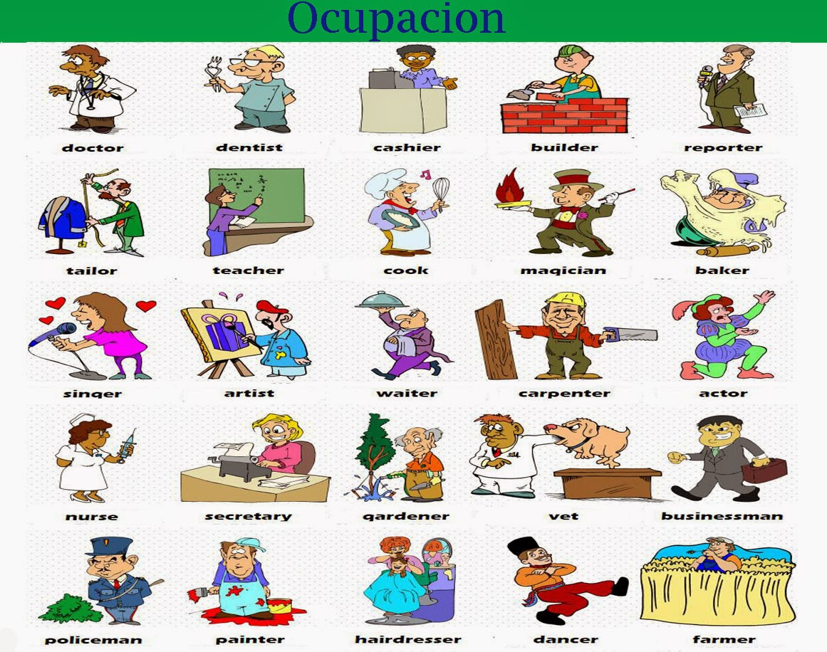 Curso De Ingles Ocupaciones