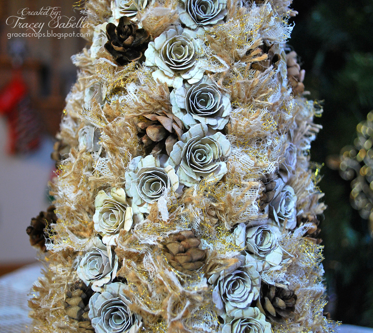 Burlap And Red Christmas Tree: Donna Salazar Designs: Blossom & Burlap Christmas Tree By
