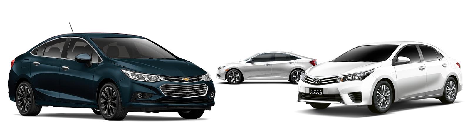 Comparativo: Chevrolet Cruze LTZ encara Civic e Corolla para definir qual é o melhor sedan de luxo