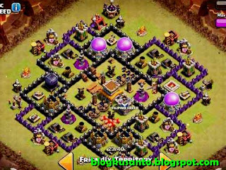 Base COC th 8 Anti Hog