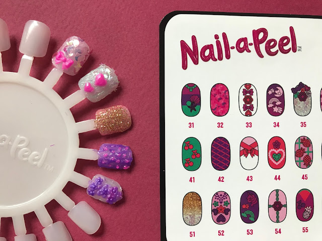 The Nail-a-peel ideas sheet and a nail wheel with some finished nails