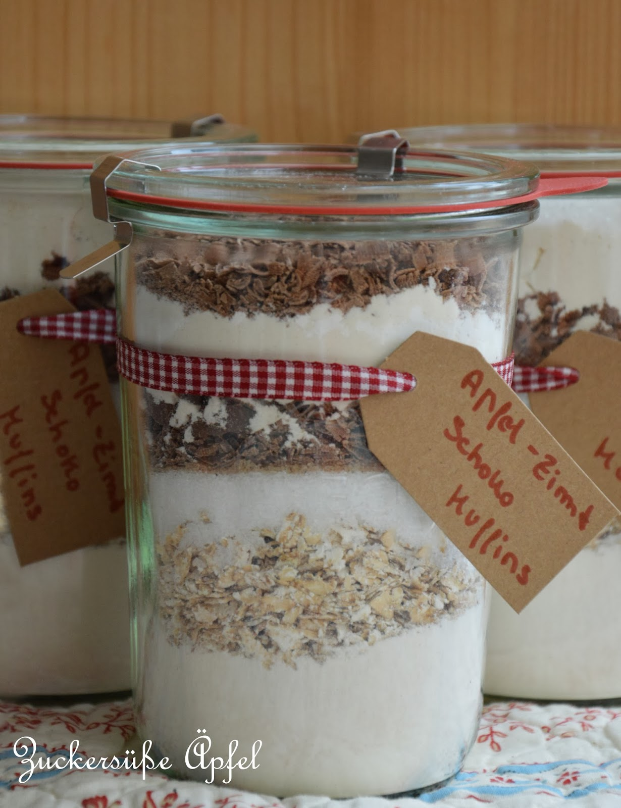 Backmischungen Im Glas Als Geschenk Aus Der Kuche Zuckersusse
