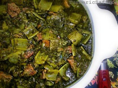 Turmeric saffron khoresh karafs celery stew for Ahmads persian cuisine