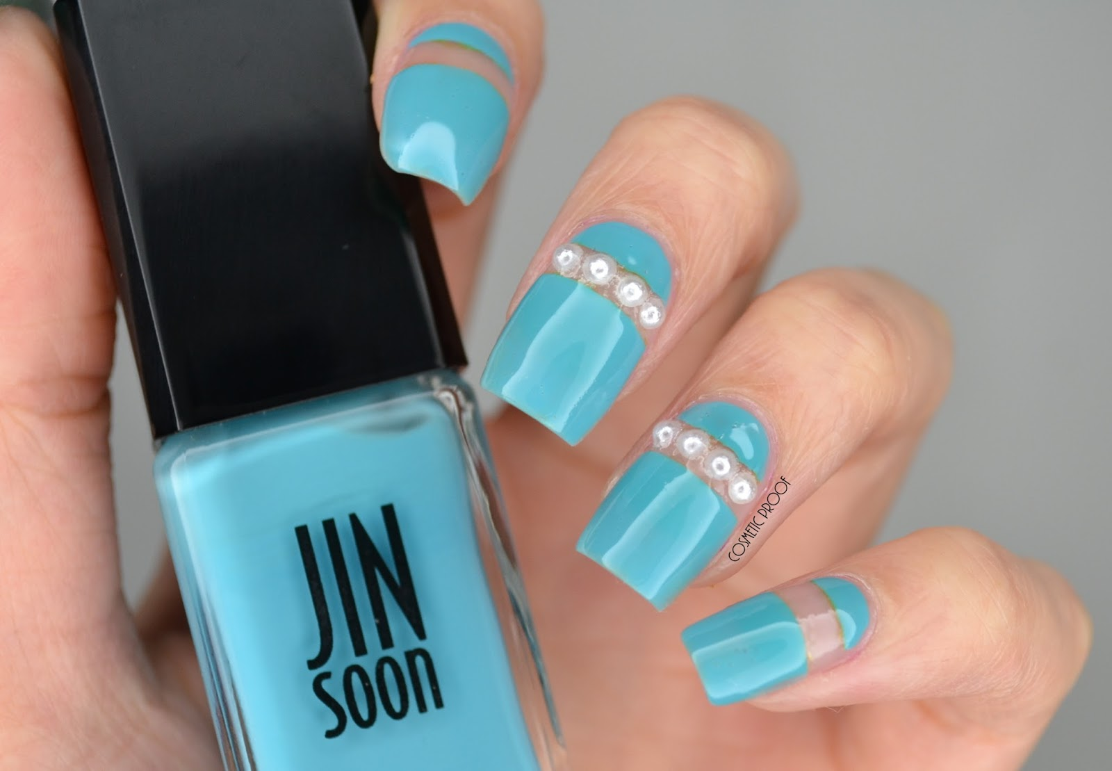 Nails pearls in negative space manimonday cosmetic proof jin soon poppy blue pearl nail art prinsesfo Images