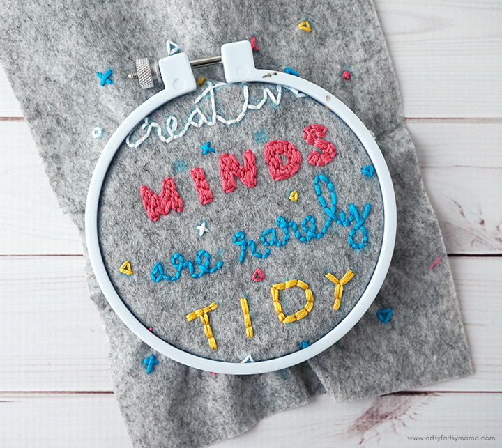 DIY Embroidery Wall Hanging