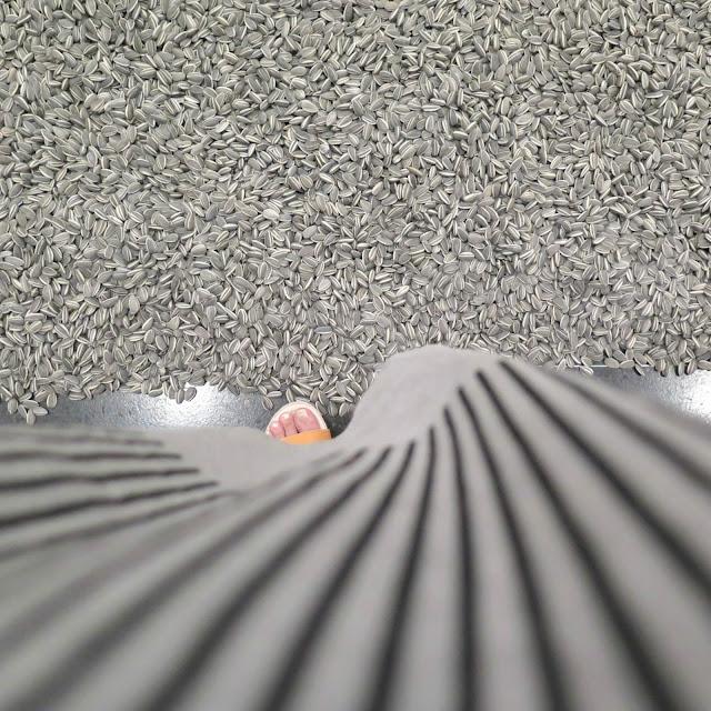 גרעינים מפורצלן מהתערוכה של איי ווייוויי ושמלה של HANA