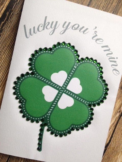 rhinestones on paper silhouette cameo print and cut st patrick's day