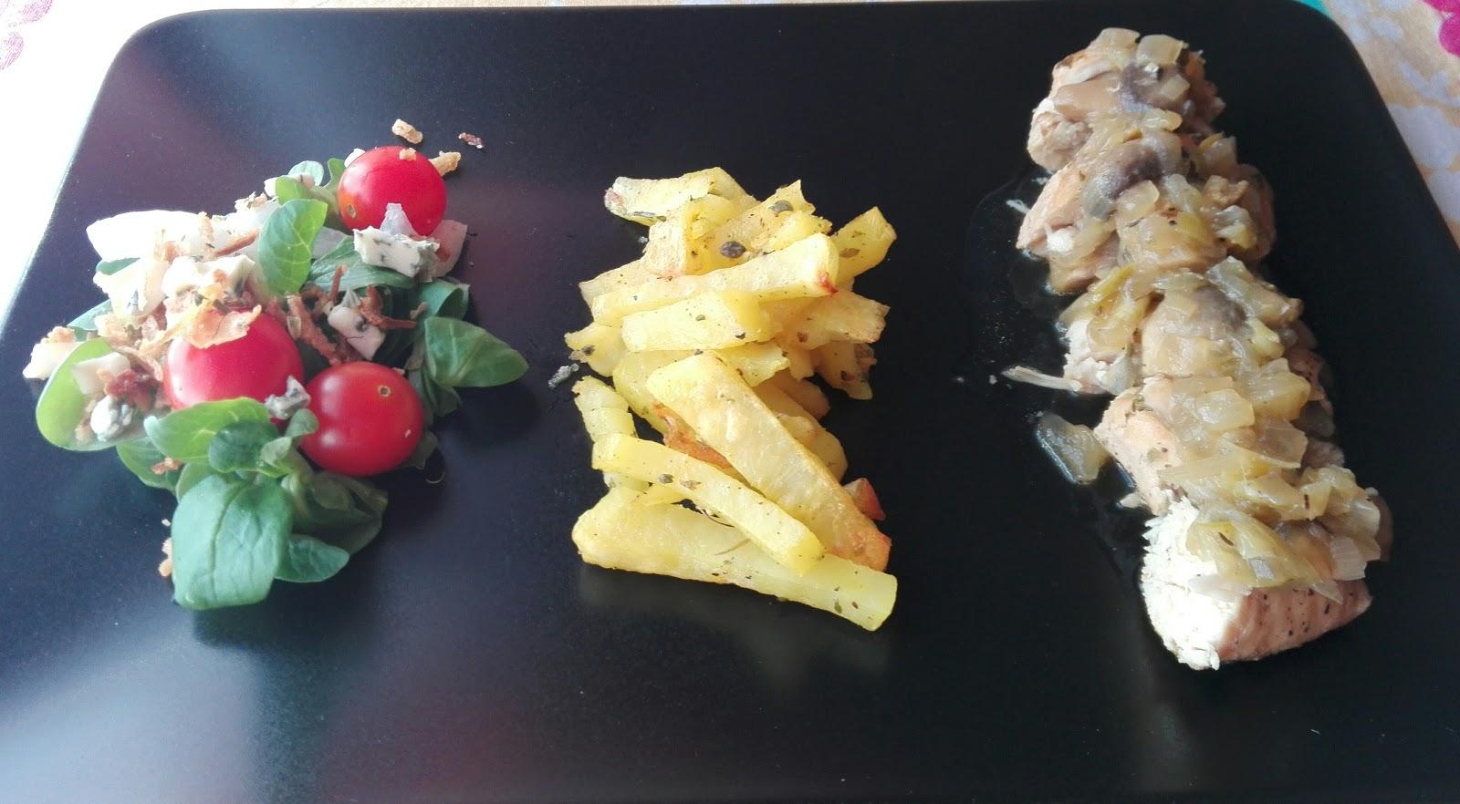 El hornillo de cristi pechuga de pollo con cebolla y for Pechugas de pollo al horno con patatas