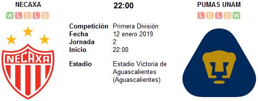 Necaxa vs Pumas UNAM en VIVO