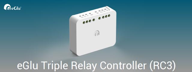 eGlu Smart Home Triple Relay Controller