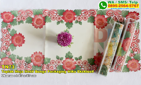 Taplak Meja Motif Bunga Packaging Mika Eksklusif