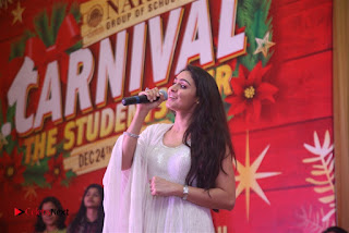 Tamil Actress Singer Andrea Stills in White Salwar Kameez at Narayana Group of Schools Carnival Inauguration  0015.jpg