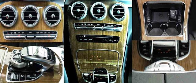 Tựa tay Mercedes GLC 250 4MATIC 2017 được thiết kế nổi bật với rất nhiều tiện ích