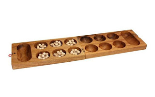 MindSapling Kalaha L Classic Wooden Game