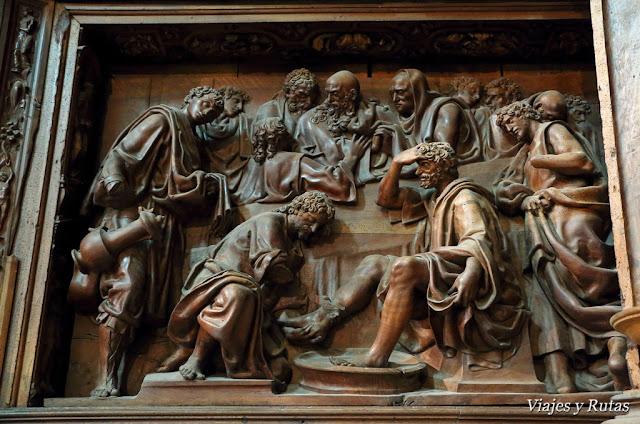 El lavatorio de los pies, santa Clara