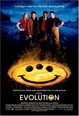 Poster of Evolution 2001 720p Hindi BRRip Dual Audio Full Movie Download
