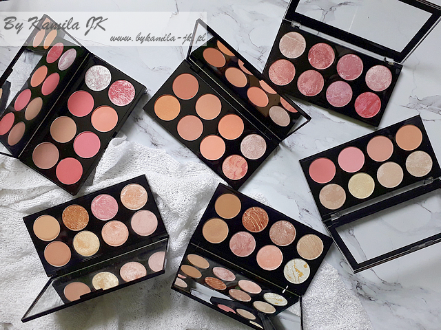 Makeup Revolution blush palette paletki różów Sugar & Spice, Golden Sugar, Hot Spice, Blush Queen, Blush Goddess, Golden Sugar 2 Rose Gold