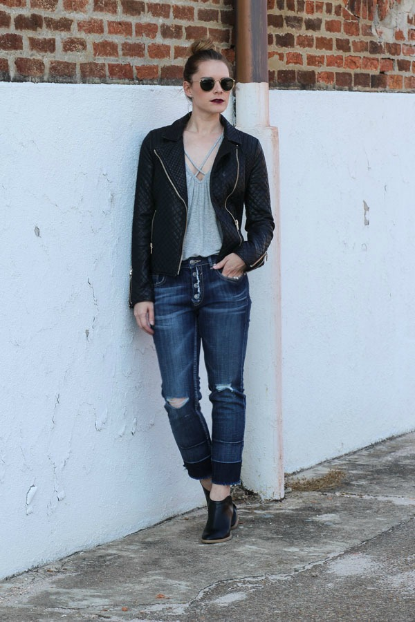 Styling leather jackets for fall