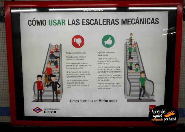 cómo usar las escaleras mecánicas