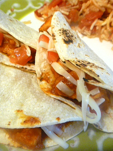 Chicken Taco Meat - Freezer Friendly Bulk Recipe: bursting with Latin flavors, this is an easy way to make taco filling for a crowd. - Slice of Southern
