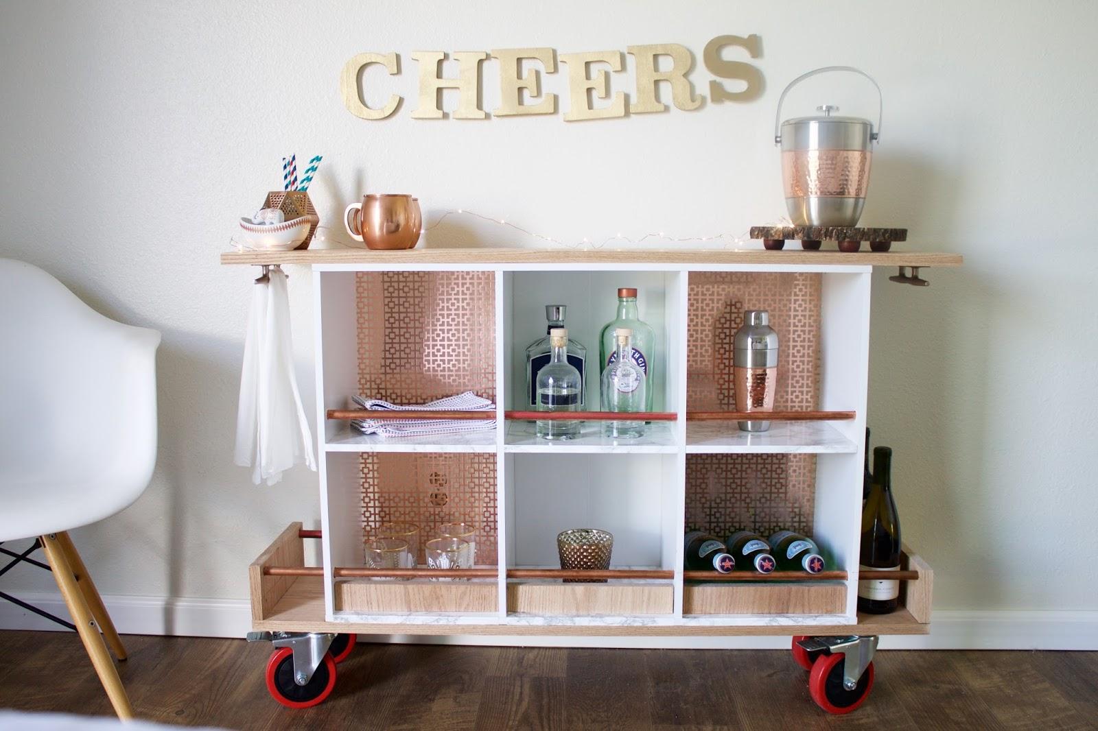 DIY Bar Cart | Hello Beautiful