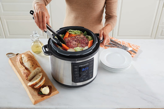 The solution to the mid-week meal dilemma: Crock-Pot Express Crock Multi-Cooker'